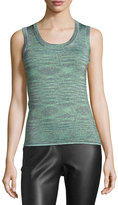 M Missoni Space-Dyed Lurex®; Tank, Olive