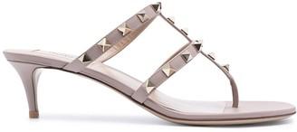 Valentino Rockstud T-bar 50mm sandals