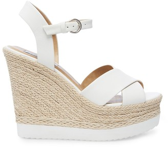 Steve Madden Draya White Leather