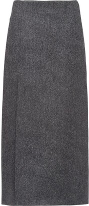 Prada Side-Slit Straight Skirt