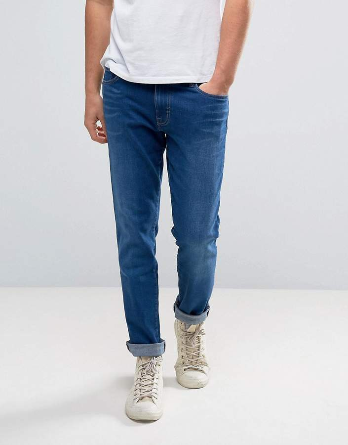 WÅVEN Skinny Fit Jeans in Classic Blue