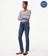 LOFT Tall Modern Straight Leg Jeans in Mid Staple Indigo Wash