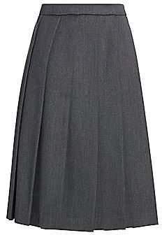 Gucci Women's Wool Box Pleated Midi Skirt