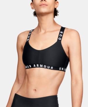 Under Armour Women's Wordmark Cross-Back Low-Impact Sports Bra