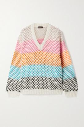 Stine Goya Jodi Striped Open-knit Sweater - Pink