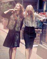 L'Agence Sheer Printed Silk Blouse