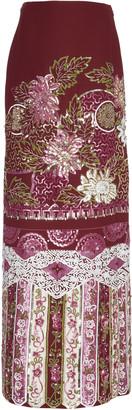 Valentino Embellished Wool Silk Maxi Skirt