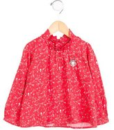 Tartine et Chocolat Bow-Embellished Floral Print Top