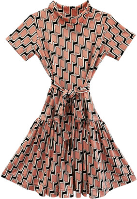 Helena Girl's Geometric-Print Knit Dress, Size 5-6