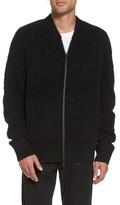 Vince Men's Fleece Wool Blend Bomber Jacket