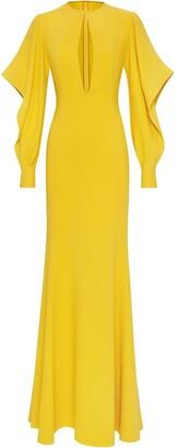 Oscar de la Renta Cut-Out Detail Gown