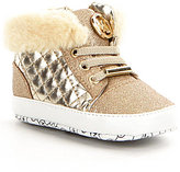 MICHAEL Michael Kors Girl's Baby Lee Faux Fur Crib Shoes