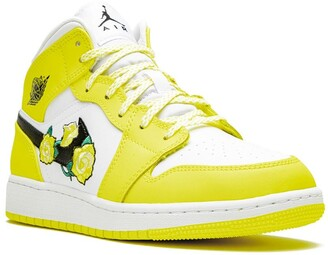 Nike Kids TEEN Air Jordan 1 Mid GS dynamic yellow
