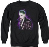 Marvel Suicide Squad Joker Damaged Side Profile Stare Adult Crewneck Sweatshirt