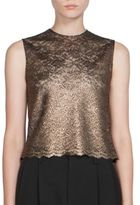 Saint Laurent Metallic Lace Top