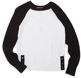 Autumn Cashmere Girl's Snap Hem Raglan T-Shirt