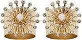Joanna Buchanan Star Napkin Ring - Set of 2 - Gold Pearl