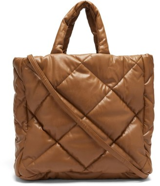 Stand Studio Assante Quilted Faux-leather Tote Bag - Beige