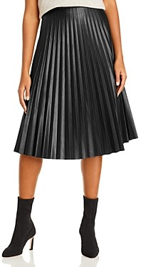 Aqua Pleated Midi Skirt
