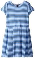 Polo Ralph Lauren Striped Pleated Ponte Dress Girl's Dress