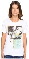 DSQUARED2 Liza Glitter Faced Couple Jersey Tee Women's T Shirt