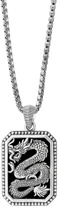 Effy Onxy & Sterling Silver Dragon Pendant Necklace