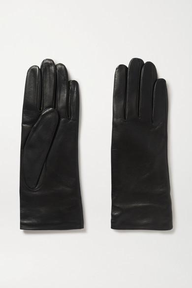 Gabriela Hearst Leather Gloves - Black