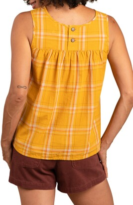 Toad&Co Willet Pintuck Plaid Organic Cotton Tank