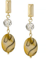 Kenneth Cole New York Natural Wonder Faceted and Shell Bead Drop Earring