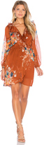 Band of Gypsies Bouqet Floral Surplice Wrap Dress