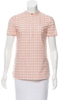 Tory Burch Geometric Print Short Sleeve Top