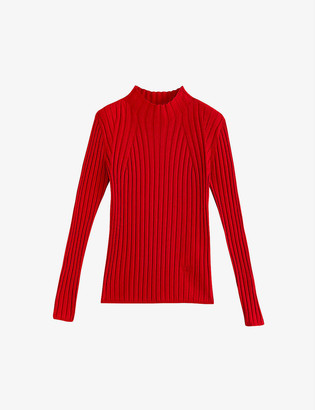 Claudie Pierlot Moon ribbed woven jumper
