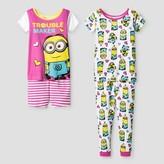 Despicable Me Toddler Girls' Despicable Me Pajama Set - White