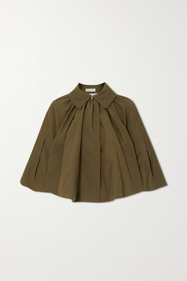 Nina Ricci Gathered Faille Cape - Army green