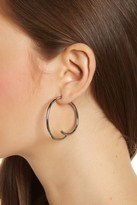 Steve Madden Double C-Hoop Front to Back Earrings
