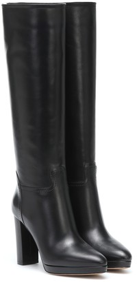 Valentino Rockstud over-the-knee leather boots