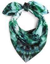 Vince Camuto Cosmic Bloom Square Silk Scarf