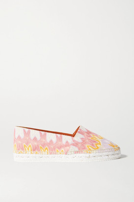 Missoni Crochet-knit Canvas Espadrilles - Pink
