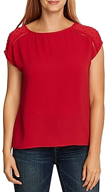 Vince Camuto Dot Sleeve Top