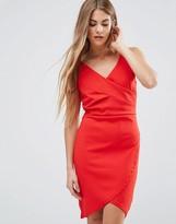 Wal G Drape Front Dress