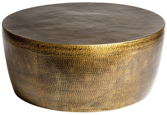 Studio A Home Izmir Hammered Cocktail Table, Antique Brass