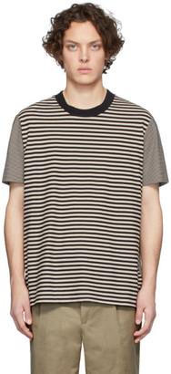 Joseph Beige Combo Stripe T-Shirt