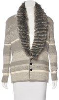 Timo Weiland Shearling Wool Cardigan