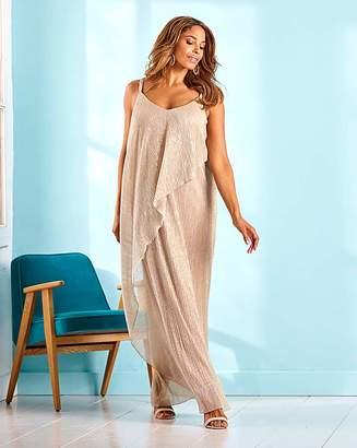 Joanna Hope Layered Plisee Maxi Dress