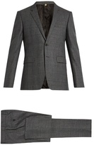 Burberry Checked Notch-lapel Wool Suit