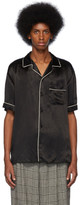 Gucci Black Print Back Bowling Shirt