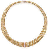 Roberto Coin Primavera 18K Yellow Gold & 0.25 Total Ct. Pave Diamond Collar Necklace