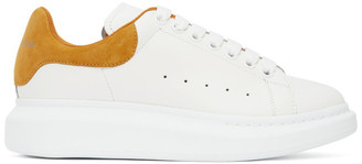 Alexander McQueen White and Yellow Oversized Sneakers