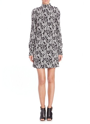 Dolce & Gabbana Mockneck Floral Shift Dress