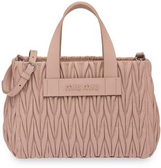 Miu Miu Matelasse Top-Handle Bag